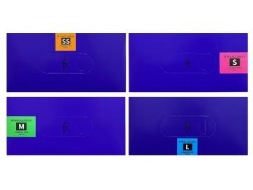ニトリルグローブV/バイオレットブルー 100枚入×10箱  粉なしニトリル手袋