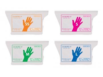 ニトリルグローブ−UV対策袋仕様−/ブルー 200枚入×10パック 粉なしニトリル手袋