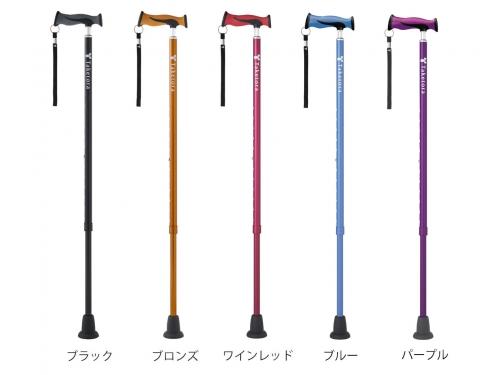 【新製品・送料無料】バンブーステッキ 伸縮タイプ