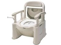 樹脂製ポータブルトイレ 座楽 背もたれ型SP <標準便座タイプ>