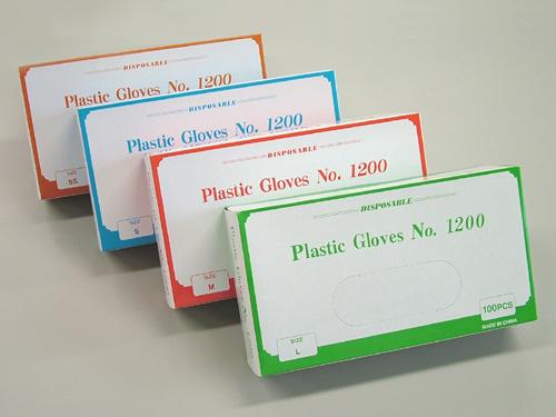 シンガー プラスチックグローブNo.1200 100枚入 粉付プラスチック手袋