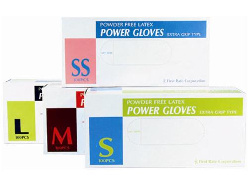 パワーグローブ 100枚入 粉なしラテックス手袋