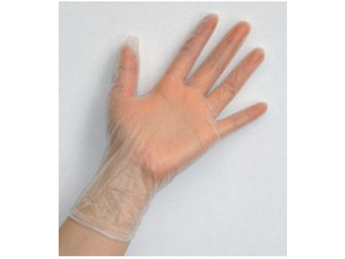 プレミア・タフグローブ 100枚入 粉付きプラスチック手袋