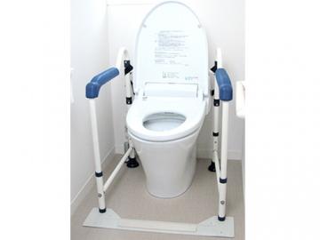 トイレの手すり(折りたたみタイプ)