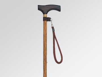 木目調伸縮アルミ杖