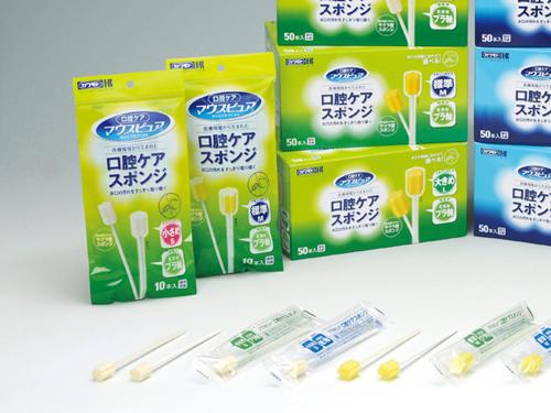マウスピュア 口腔ケアスポンジ プラスチック軸タイプ (50本入/500本入)