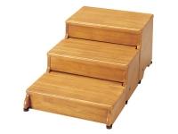 安寿 木製玄関台 45W-30-3段