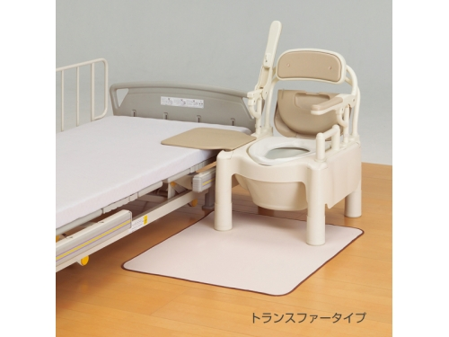 """安寿 ポータブルトイレ FX-CP """"はねあげちびくまくん""""(標準便座)"""