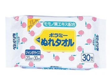 ポラミーぬれタオル(モモノ葉ノンアルコール) 30枚入