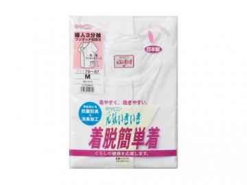 ソフトワンタッチ前開きシャツ (婦人用)