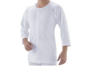 愛情らくらく肌着 前開きボタン付シャツ(男性用)