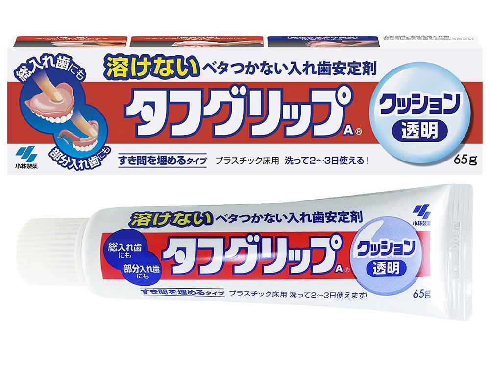 小林製薬 入れ歯安定剤 タフグリップ クッション透明タイプ