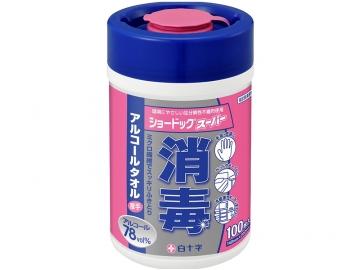 ショードックスーパー ボトルタイプ100枚入 (消毒除菌用ウェットタオル)