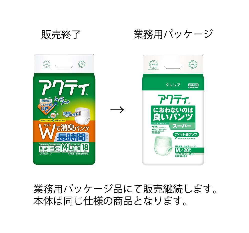 日本製紙クレシア アクティWで消臭パンツ 長時間