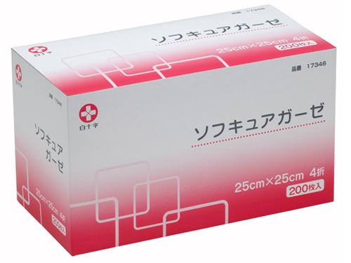 ソフキュアガーゼ 200枚入(4折 不織布ガーゼ)