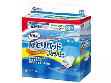 サルバ 尿とりパッドスーパー 男性用 68枚入(約2回分吸収)