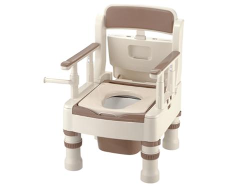 樹脂製ポータブルトイレ きらく ミニでか MS型 <普通便座>