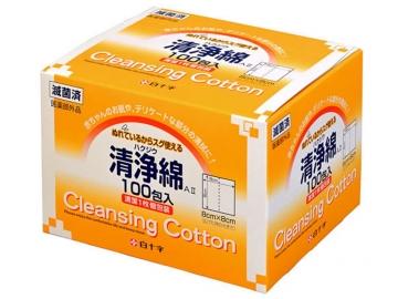 ハクジウ清浄綿 A� 100包入(滅菌済)