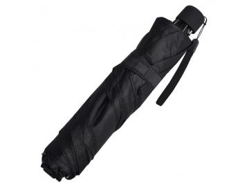 スリム三つ折傘 無地 黒