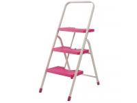 フォールディングステップ3段 ピンク