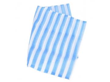 ロングナイロンタオル かため 120cm ブルー