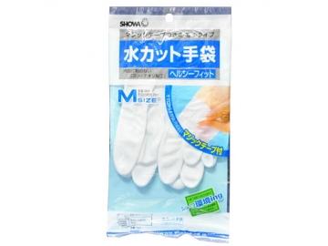 水カット手袋 マジックテープ付き 薄手 M ホワイト