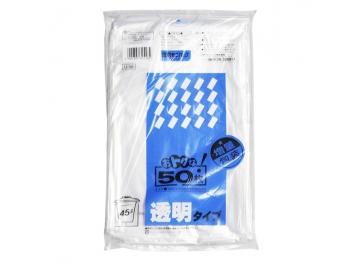 増量包装 45Lポリ袋 透明 50枚入
