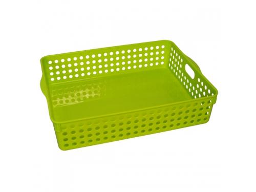 ストックバスケット A4サイズ グリーン