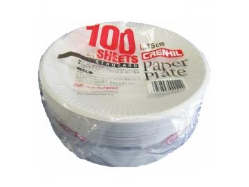 スタンダード 紙プレート 15cm 100枚入
