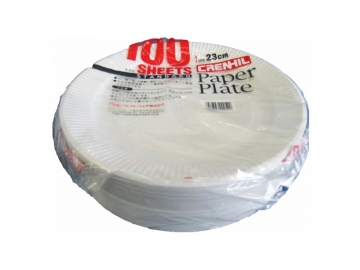 スタンダード 紙プレート 23cm 100枚入