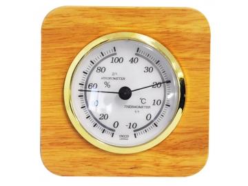 クレセル 卓上用 温・湿度計 天然木