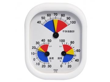 家庭用 温・湿度計 不快指数計付 壁掛け・卓上両用