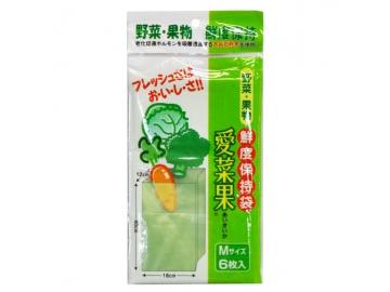 愛菜果 野菜・果物鮮度保持袋 M 5枚入