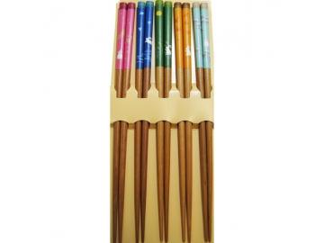 客用箸 乾漆 四季うさぎ 22.5cm 5膳組