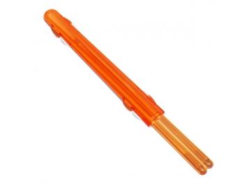 ハーフケース箸付 クリアオレンジ