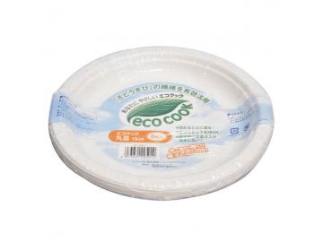 【紙皿】 エコクック 18cm (8枚入)