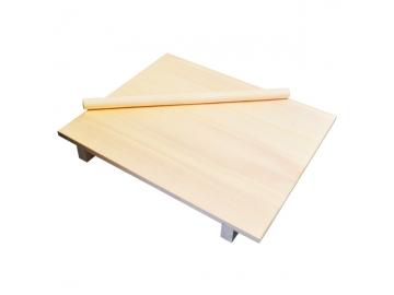 星野 のし板 足付 50×60cm 麺棒付