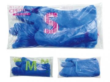 CPEグローブB(ブルー) 100枚入 ポリエチレン手袋