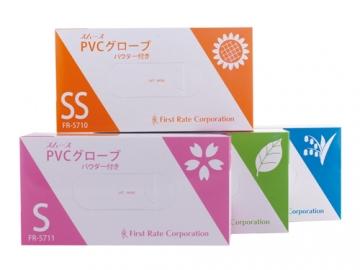 スムースPVCグローブ 100枚入×10箱 粉付きプラスチック手袋