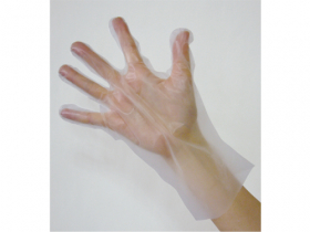 ポリエチレン製の使い捨て手袋一覧です。