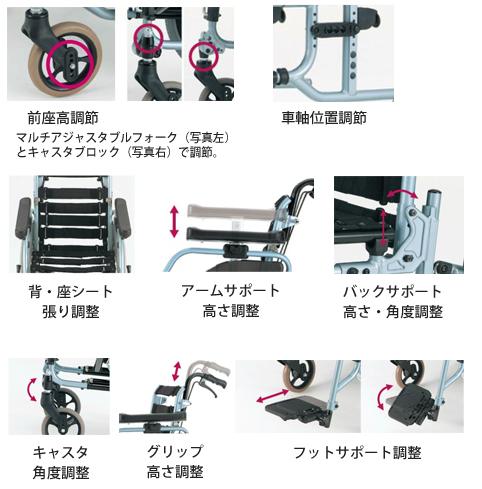 松永製作所 フルモジュール車いす REM-1000